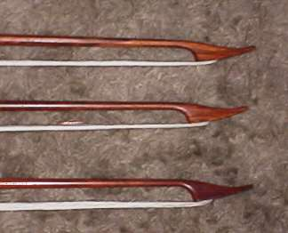Group of bass viol bow heads