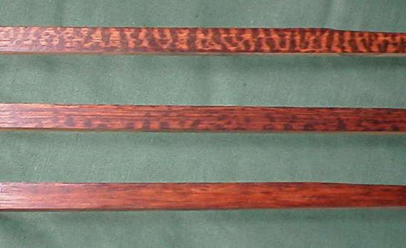 Snakewood of different figure compared