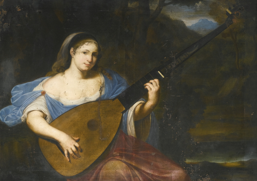 French theorbo paintinge