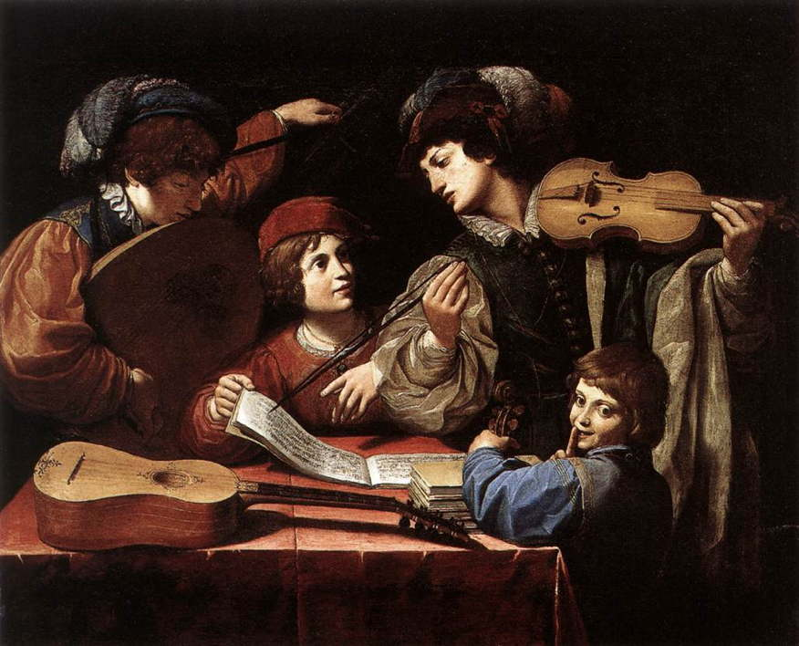 The Concert,  a painting by Leonello Spada